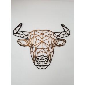 UnykDesign Houten Geometrische Bull L Brons
