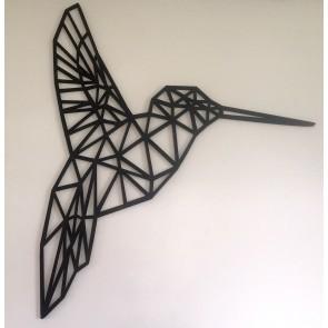 UnykDesign Houten Geometrische Kolibrie L Zwart