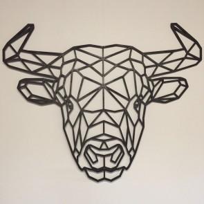 UnykDesign Houten Geometrische Bull M Zwart Voorkant