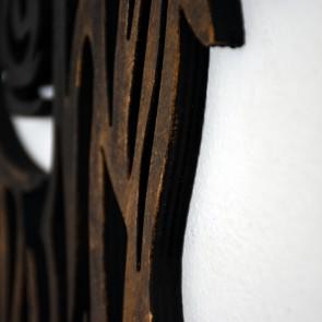 UnykDesign Houten Schotse Hooglander Zwart/Brons XL  Detail Dikte